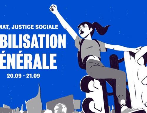 Climat, justice sociale, les jeunes se mobilisent le 20 septembre! Rendez-vous à Caen : 12h30 place du Théâtre.