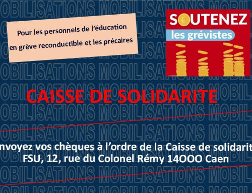 Caisse de solidarité pour les personnels de l'éducation