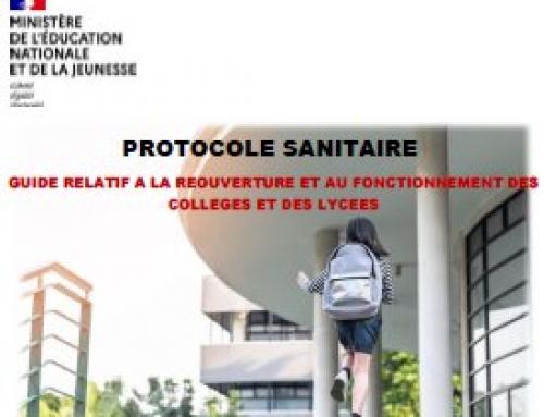 #11 mai: les protocoles définitifs (revus le 11 mai)